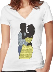 A Legendary Couple Women's Fitted V-Neck T-Shirt
