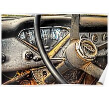 Classic Chevy Pickup Dash Poster