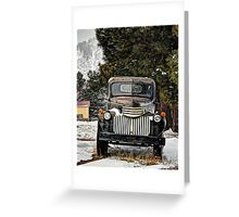 1946 Chevy Pickup Verticle Greeting Card