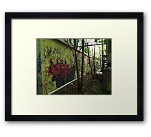 Graffiti from an old allyway - Framed Print