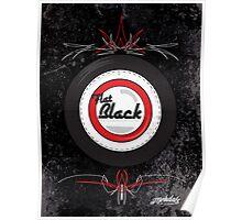 Flat Black Poster
