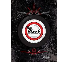 Flat Black Photographic Print