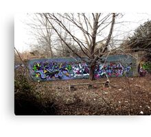 Graffiti in an old abondon parking lot - Canvas Print