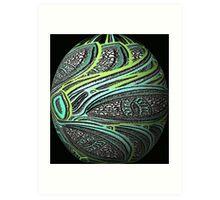 Eye Ball on Black Art Print