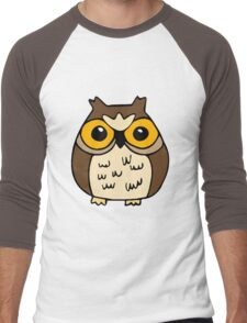 Owl's big eyes 2 Men's Baseball ¾ T-Shirt