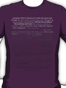 Natalie Goodman Lyrics White to Black T-Shirt