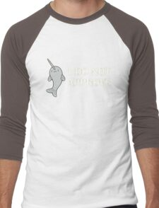 The Disapproving Narwhal  Men's Baseball ¾ T-Shirt