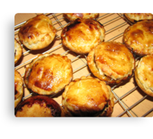 Oven Fresh Mince Pies Canvas Print