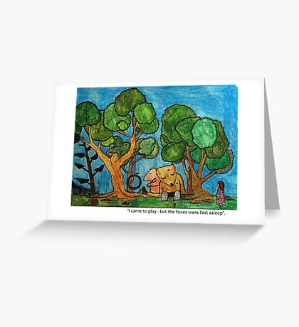 Fast asleep Foxes Greeting Card