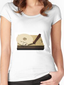 gypsy cloud vinyl Women's Fitted Scoop T-Shirt