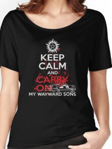 Supernatural - Keep Calm And Carry On My WayWard Sons T-Shirt   Women's Relaxed Fit T-Shirt