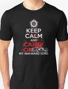 Supernatural - Keep Calm And Carry On My WayWard Sons T-Shirt   T-Shirt