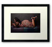 sexy plus bbw thick plussize ebony curves curvy Framed Print