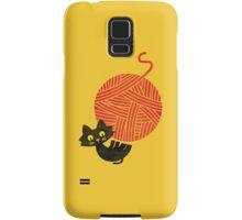 Happiness - cat and yarn Samsung Galaxy Case/Skin
