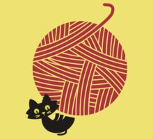 Happiness - cat and yarn Kids Clothes