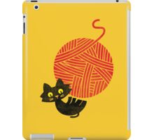 Happiness - cat and yarn iPad Case/Skin
