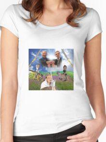 Bush x Milk Collaboration Women's Fitted Scoop T-Shirt