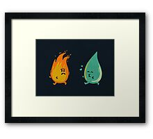 Impossible love - fire and water kiss Framed Print