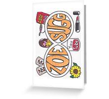 Zoe Sugg Infinity Greeting Card