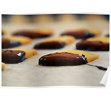 Chocolate-Dipped Butter Cookies Poster