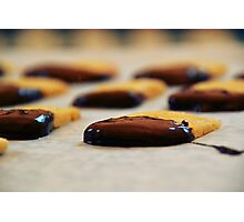 Chocolate-Dipped Butter Cookies Photographic Print