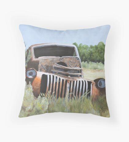 Truck Stop Throw Pillow