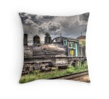 Shay Locomotive No. 12 Throw Pillow