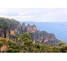 Three Sisters - Katoomba, Australia Photographic Print