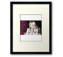 Kate Moss Vibe Framed Print