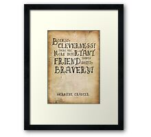 Harry Potter Hermione Granger Quote Framed Print
