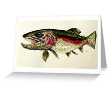 ALASKAN RAINBOW TROUT ART, from J. Vincent Scarpace. AWESOME, MUST SEE Greeting Card