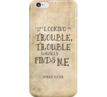 Harry Potter Trouble Quote iPhone Case/Skin