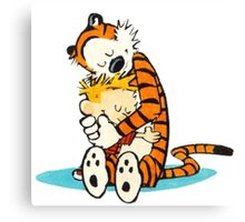 Calvin and hobbes hugs and sleeping Canvas Print