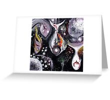 """""""Static Fish, Suspended"""" Original Abstract Fish Art / Painting from J. Vincent Scarpace, MUST SEE Greeting Card"""