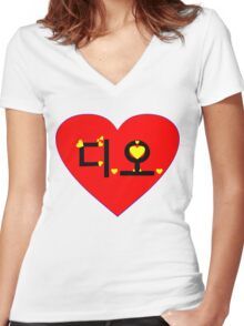 ♥♫I Love EXO-K D.O. Clothes & Stickers♪♥ Women's Fitted V-Neck T-Shirt