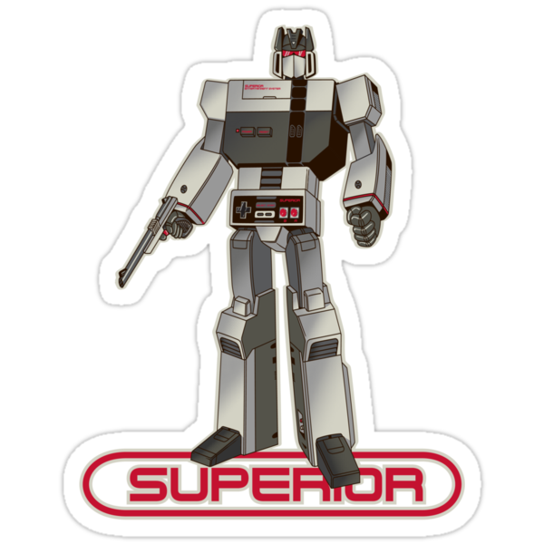 Superior Sticker by Brad linf