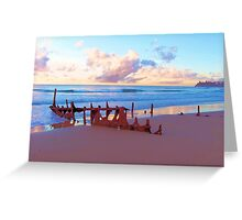 Beautiful wreck Greeting Card
