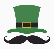 Funny mustache St Patricks day sticker by Mhea