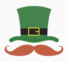 Funny ginger red mustache and St Patricks day hat by Mhea