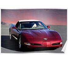 2002 Corvette 50th Anniversary Convertible V Poster