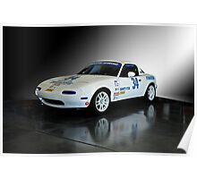 1991 Mazda Miata SCCA Spec Car Poster