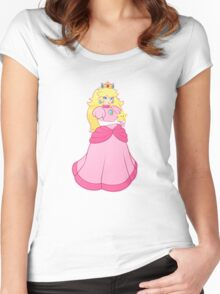 princess peach - textless Women's Fitted Scoop T-Shirt