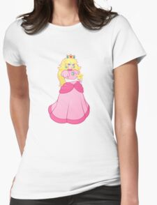 princess peach - textless Womens Fitted T-Shirt
