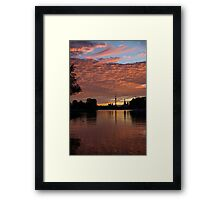 Reflecting on Fiery Skies - Toronto Skyline at Sunset Framed Print