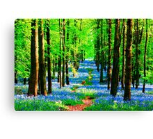 Blue Bell Wood Canvas Print