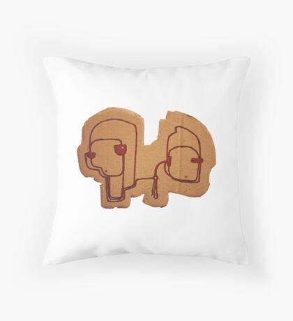 Socrates & Arnold Throw Pillow