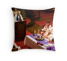 0520 Rev Dr Margaret Mayman's Induction  Throw Pillow