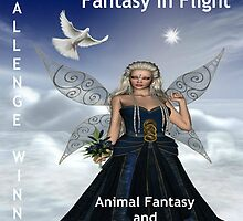 Challenge Winner Banner.  Fantasy in Flight.  Animal Fantasy and Whimsy Group by Staffaholic