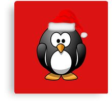 Christmas Penguin Canvas Print