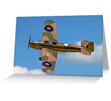 Miles Magister I P6382/C G-AJRS Greeting Card